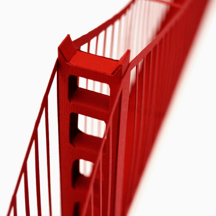 Golden Gate Paper Model by PaperLandmarks Pylon Closeup