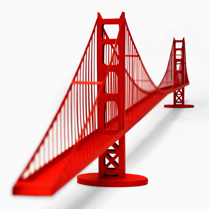 Golden Gate Bridge Assembled Paper Model by PaperLandmarks