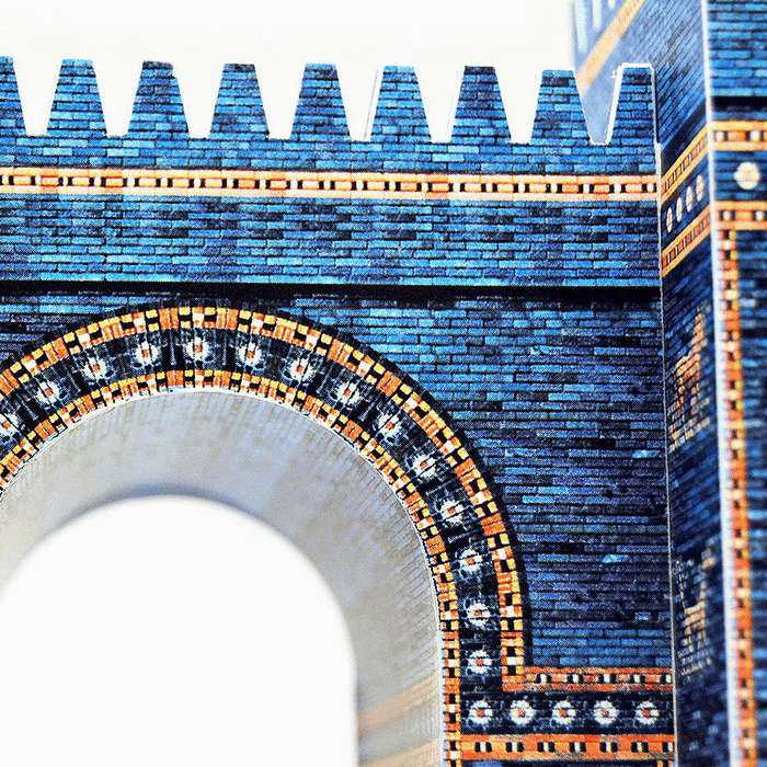 Ishtar Gate Paper Model by PaperLandmarks Detail Closeup