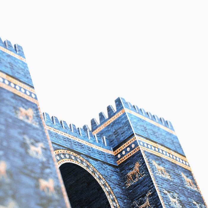 Ishtar Gate Paper Model by PaperLandmarks