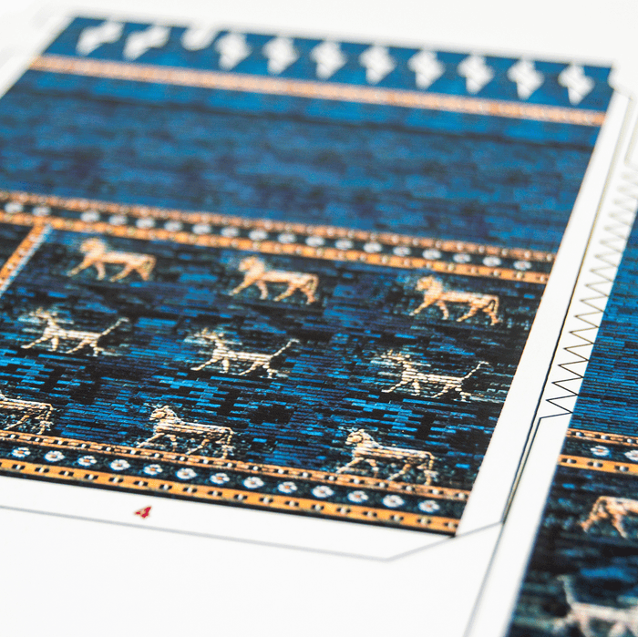 Ishtar Gate Paper Model Kit by PaperLandmarks Sheet Fragment