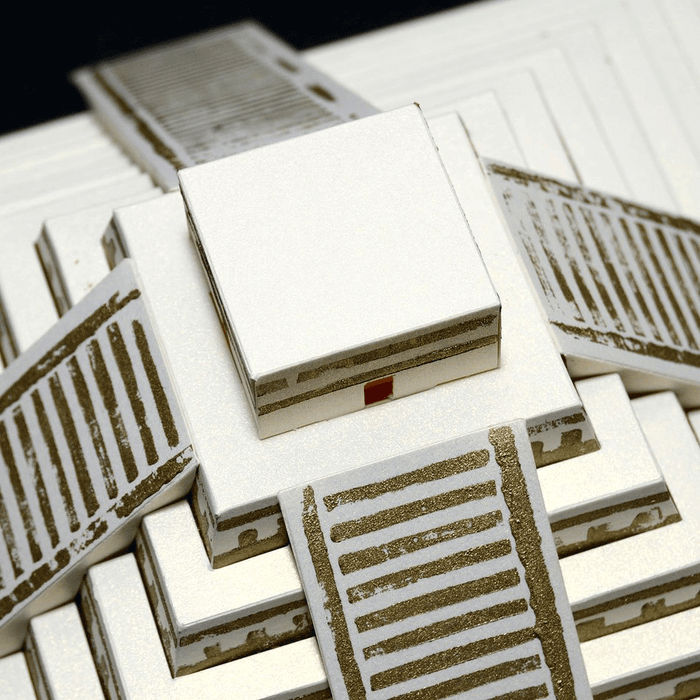 Mayan Pyramid Paper Model by PaperLandmarks Detail Closeup