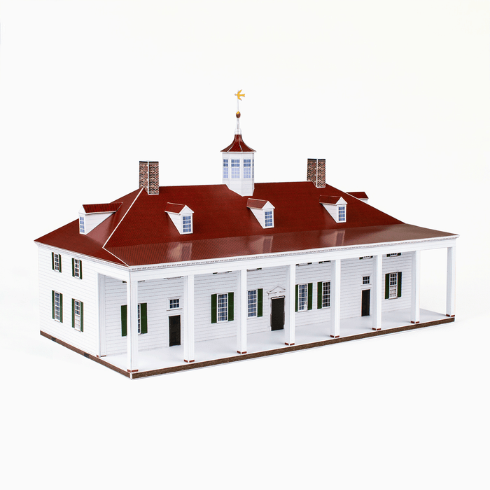 Mount Vernon Paper Model by PaperLandmarks East Front View