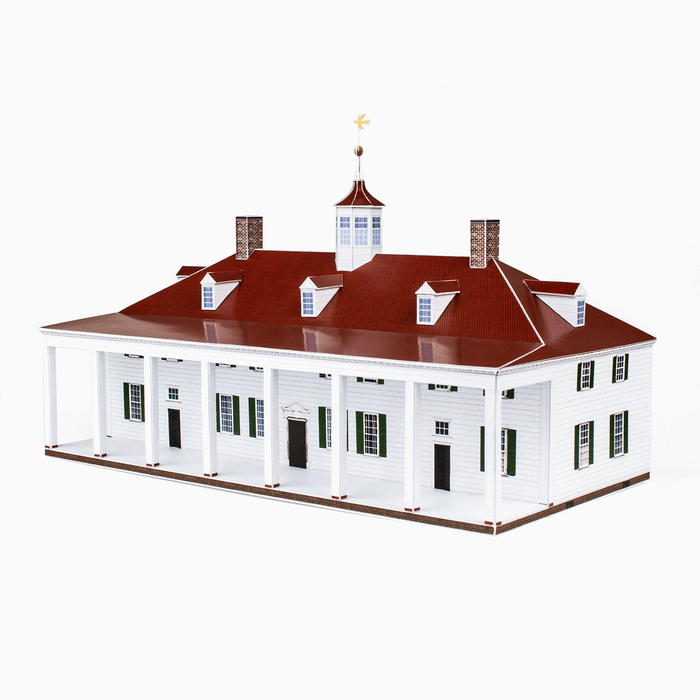 Mount Vernon Paper Model by PaperLandmarks Porch