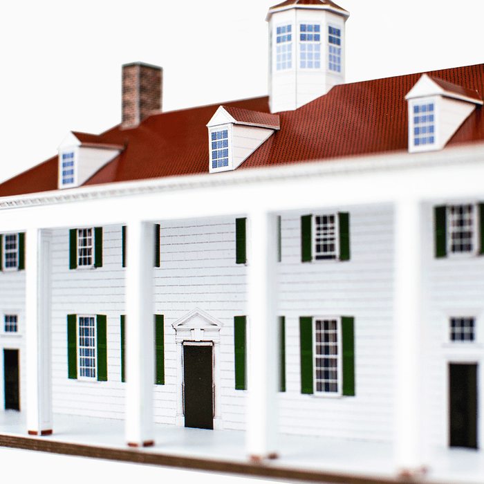 Mount Vernon Paper Model by PaperLandmarks Porch Detail