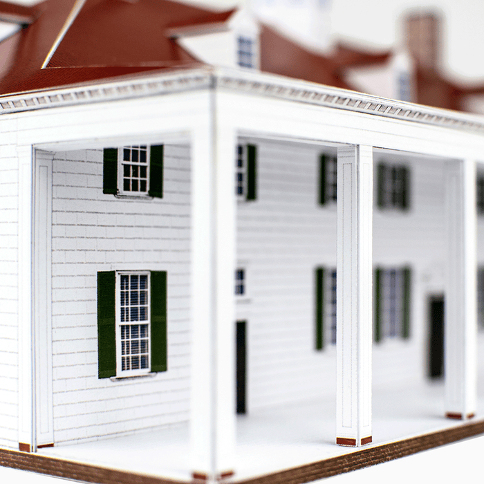 Mount Vernon Paper Model by PaperLandmarks Porch Pilasters