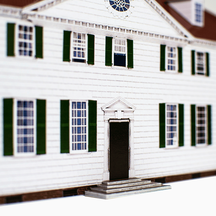 Mount Vernon Paper Model by PaperLandmarks West Front Detail Closeup