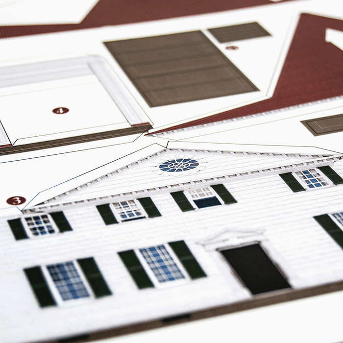 Mount Vernon Paper Model Kit by PaperLandmarks