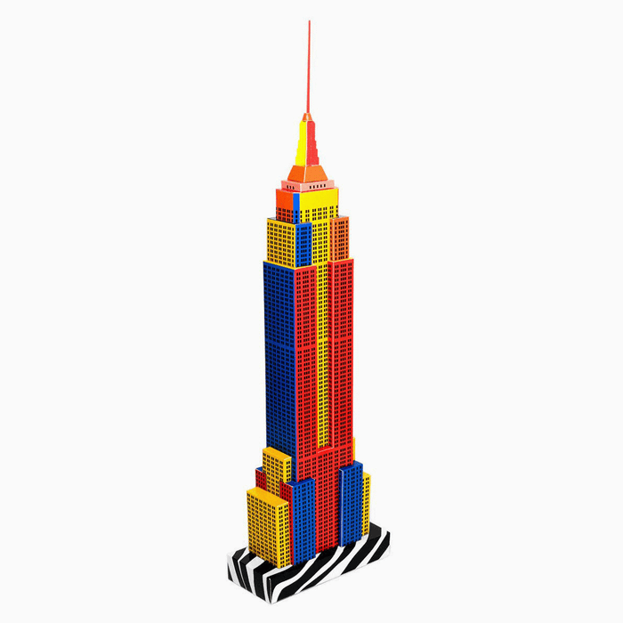 New York Skyscraper Paper Model by PaperLandmarks Pop-art Style Centerpiece