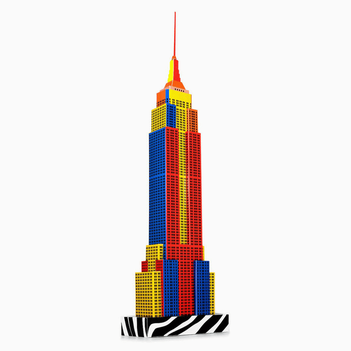 New York Skyscraper Paper Model by PaperLandmarks Pop-art Style