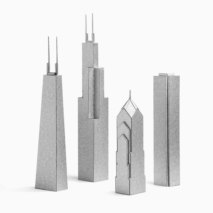 Chicago Skyscrapers Four Paper Models by PaperLandmarks