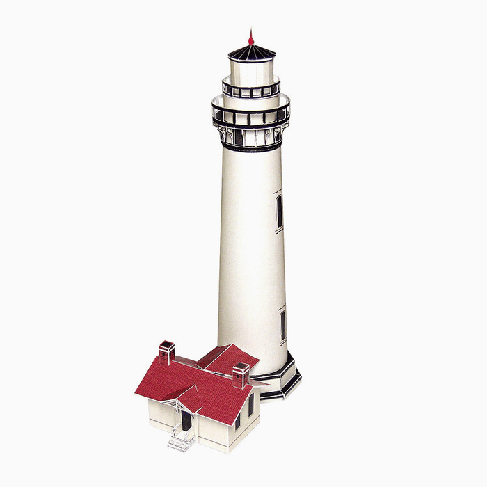 Pigeon Point Lighthouse Paper Model by PaperLandmarks