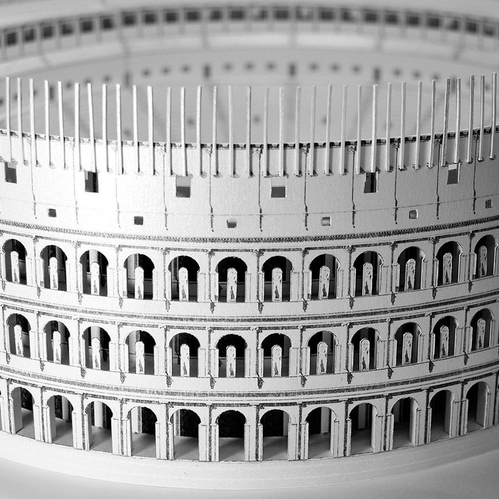 Roman Colosseum Paper Model by PaperLandmarks Assembled