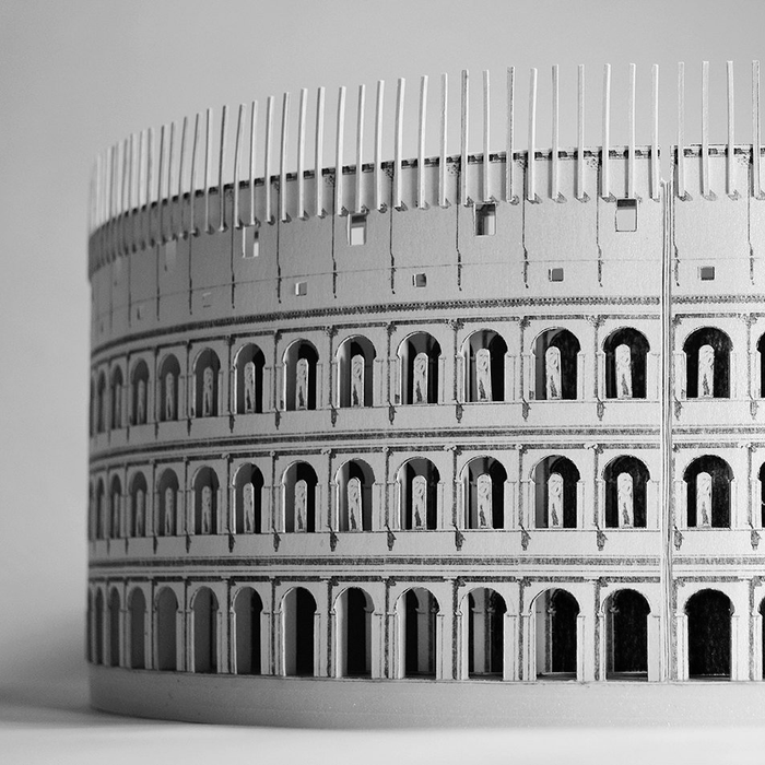 Roman Colosseum Paper Model by PaperLandmarks Art