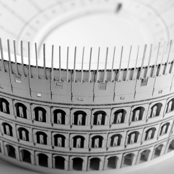 Roman Colosseum Paper Model by PaperLandmarks Closeup