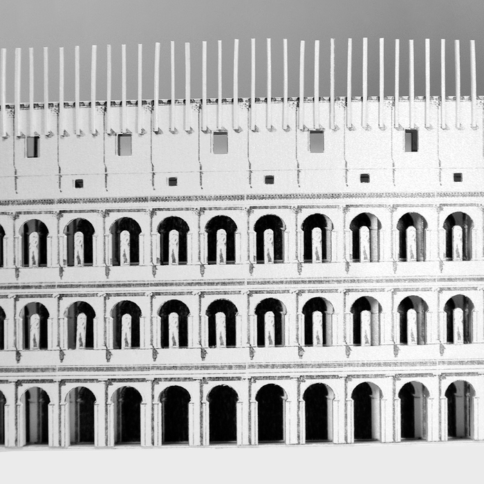 Roman Colosseum Paper Model by PaperLandmarks Detail