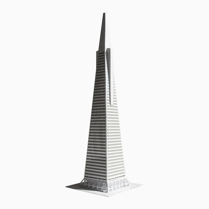San Francisco Pyramid Paper Model by PaperLandmarks