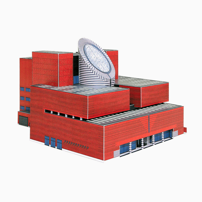 SFMOMA Building Paper Model by PaperLandmarks