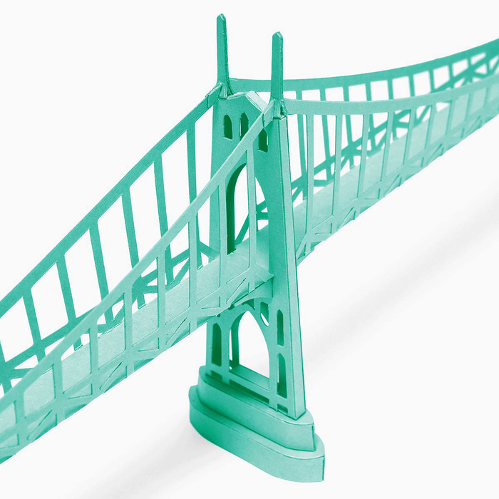St Johns Bridge Paper Model by PaperLandmarks Portland Oregon