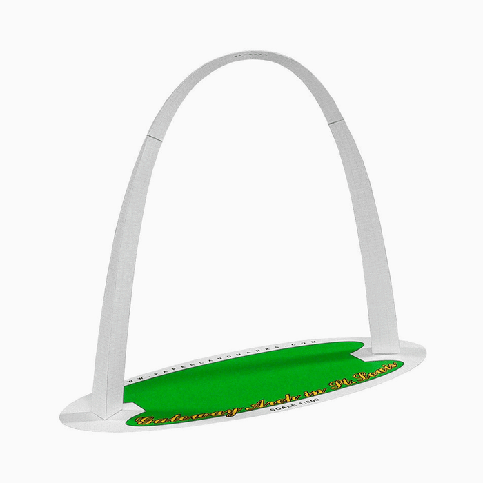 St Louis Gateway Arch Paper Model by PaperLandmarks