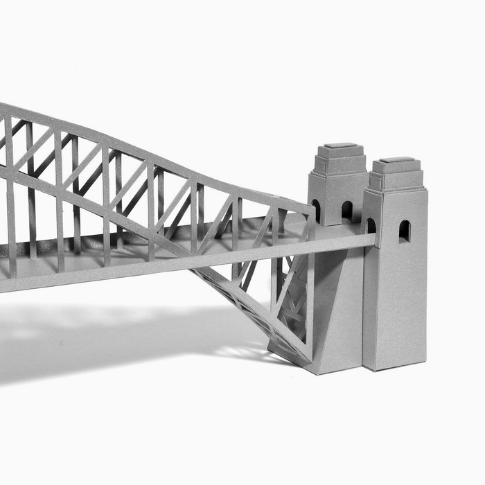 Sydney Harbour Bridge Paper Model by PaperLandmarks Detail