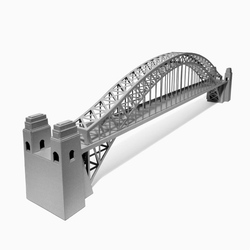 Sydney Harbour Bridge Paper Model by PaperLandmarks