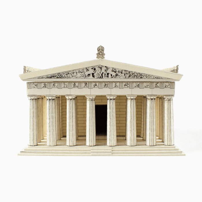 Parthenon Paper Model by PaperLandmarks Front Facade