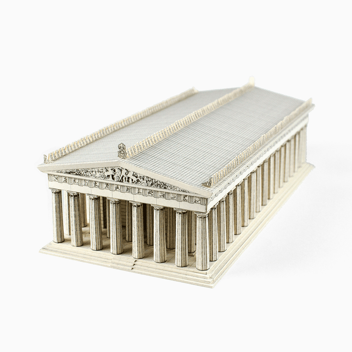 Parthenon Paper Model by PaperLandmarks Ancient Architecture