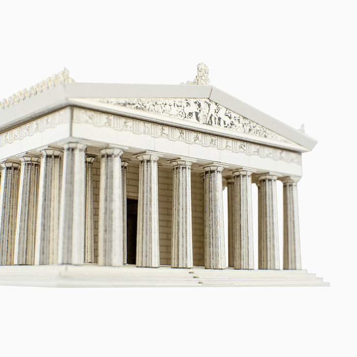 Parthenon Paper Model by PaperLandmarks Front Columns