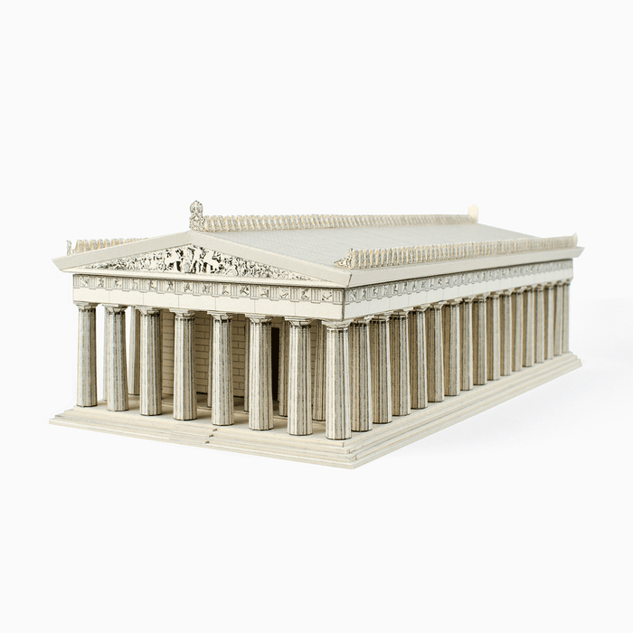Parthenon Paper Model by PaperLandmarks Limestone Color Paperart