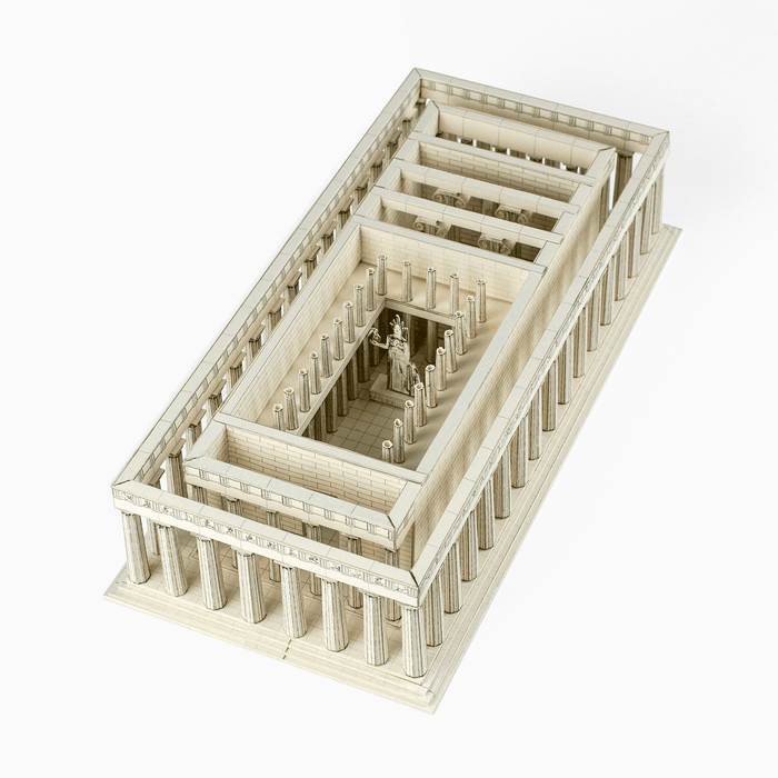 Parthenon Paper Model by PaperLandmarks Inside View