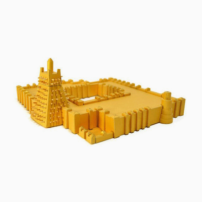Sankore Mosque Timbuktu Paper Model by PaperLandmarks