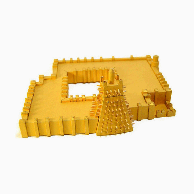 Sankore Mosque Timbuktu Paper Model by PaperLandmarks West Africa