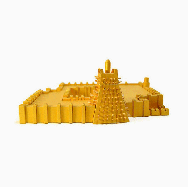 Sankore Mosque Timbuktu Paper Model by PaperLandmarks Golden
