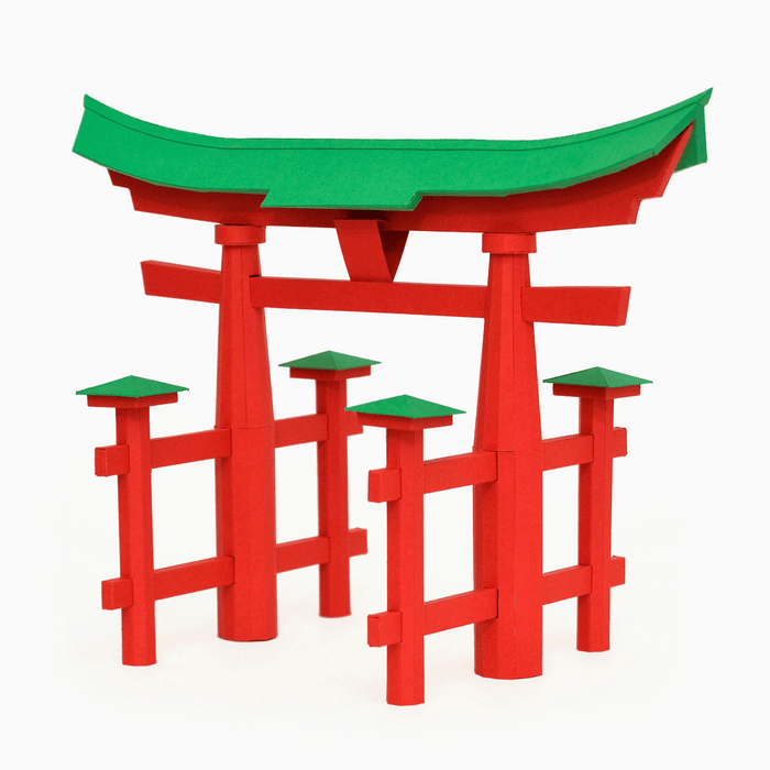 Torii Gate Paper Model by PaperLandmarks Paper Sculpture