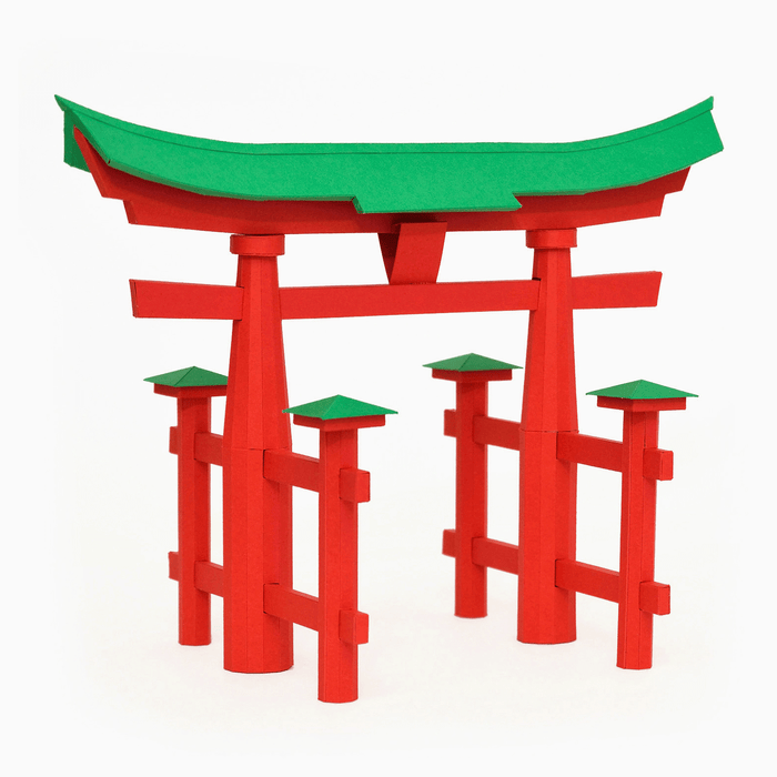 Torii Gate Paper Model by PaperLandmarks Itsukushima Shrine