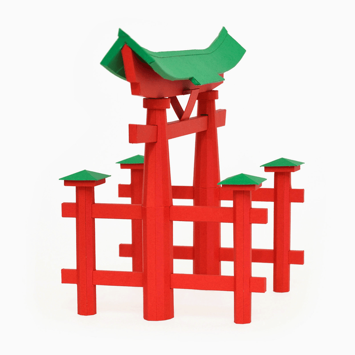 Torii Gate Paper Model by PaperLandmarks Miyajima Symbol