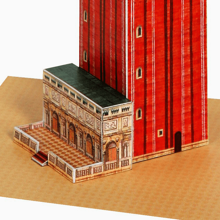 Venice Campanile Paper Model by PaperLandmarks Detail Closeup