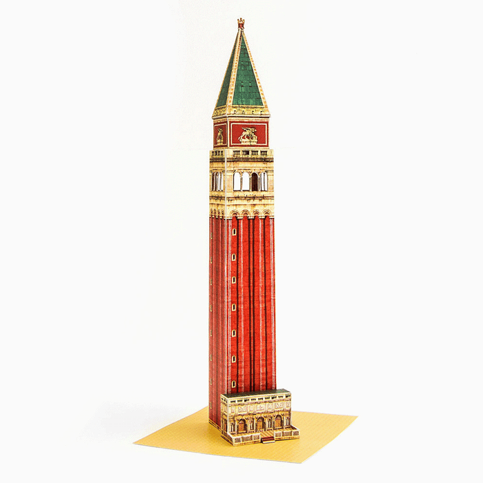 Venice Campanile Paper Model by PaperLandmarks Full Colour Miniature