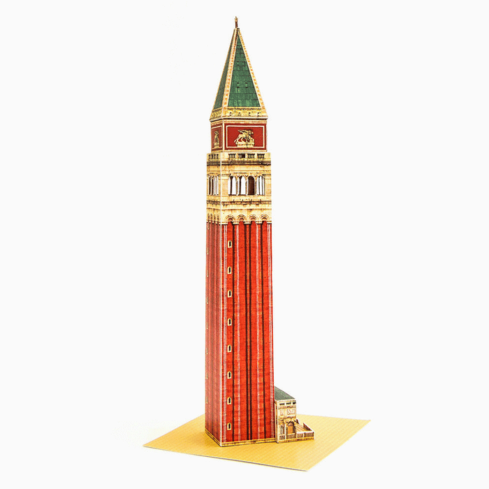 Venice Campanile Paper Model by PaperLandmarks Beginner Papercraft