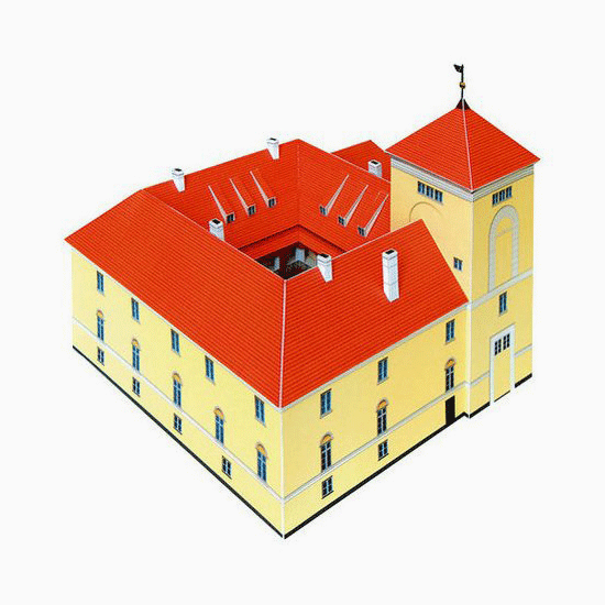 Ventspils Castle Paper Model by PaperLandmarks