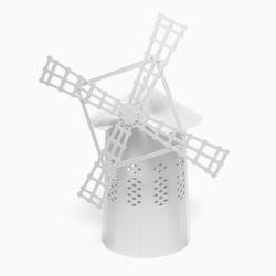 White Windmill Paper Model by PaperLandmarks Tower Mill