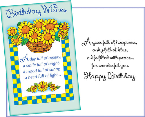 93542 Happy Birthday Card Flossie Cards
