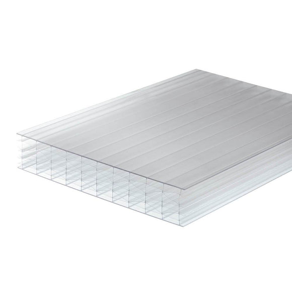 25mm Polycarbonate Roofing Sheet Clear Various Size 10 Year Warranty Double Side UV Protection