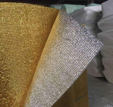 3mm Foil EPE Foam Insulation Underlay Double Side Grid Golden-Silver Colour Square Metre Price is £3.00 - undergroundflooring.co.uk