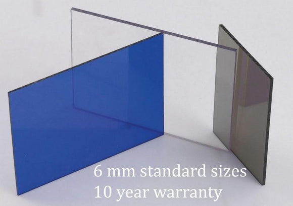 6mm Standard Sizes Clear Perspex Solid Polycarbonate Sheets From £2.86 with free delivery - undergroundflooring.co.uk