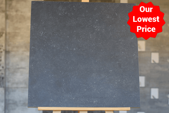 Belgium Black Anti Slip Matt Porcelain 20mm 600x600mm Indoor and Outdoor Floor Tile Our Lowest SQM Price Ever £27 - undergroundflooring.co.uk