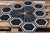 Edison Hexagon Matt Ceramic 200x230mm Wall and Floor Tile Square Metre Price is £29.90