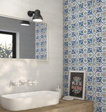 Istanblue Cini Rectified Polished Ceramic 300x300mm Wall and Floor Tile Square Metre Price is £29.90