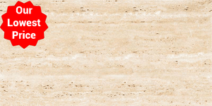 Italian Design Travertine Effect Polished Porcelain 600x1200mm Wall and Floor Tile Our Lowest SQM Price Ever £19.90 - undergroundflooring.co.uk